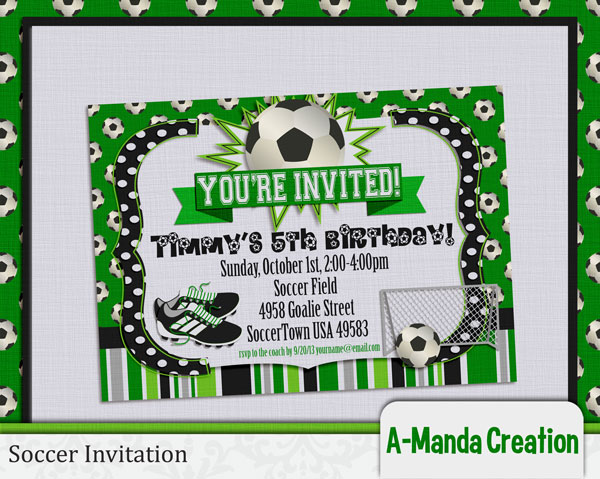 soccer party printables and coach gifts amanda creation - Soccer Party Invitations