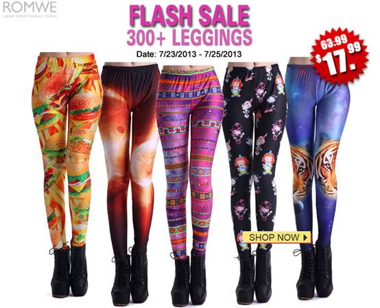 Make your print come true!  Here are so many new print leggings at Romwe.com