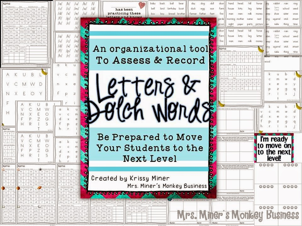 http://www.teacherspayteachers.com/Product/Assessing-and-Recording-Tool-Kit-for-Letter-ID-and-Dolch-Words-1356658