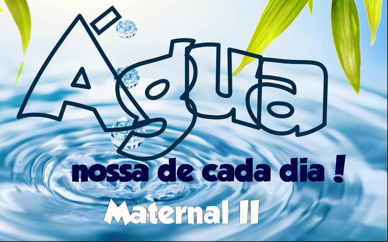Well-known Professora Juce: Projeto Água para Maternal II RB33