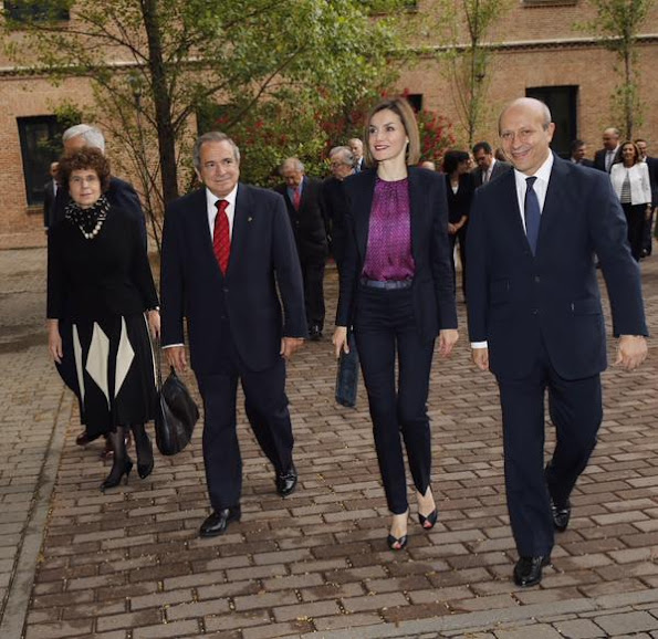 Queen Letizia of Spain attended the annual meeting of Students Residence (Residencia de Estudiantes)