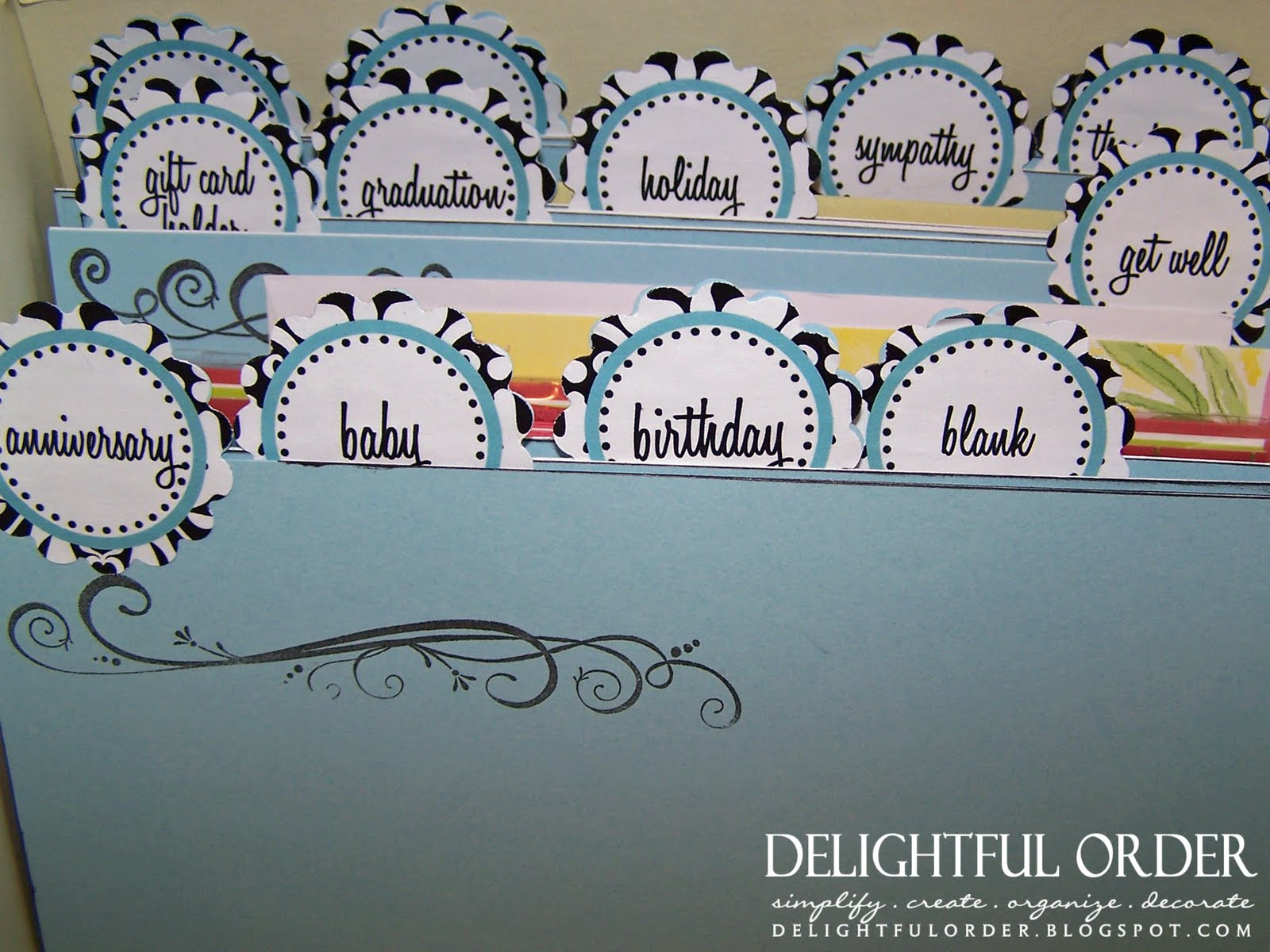 Delightful order my organized greeting card box m4hsunfo