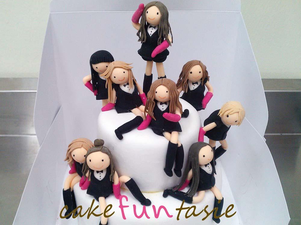 Cake Funtasie Girls Generation Paparazzi Chibi Naruto Cake