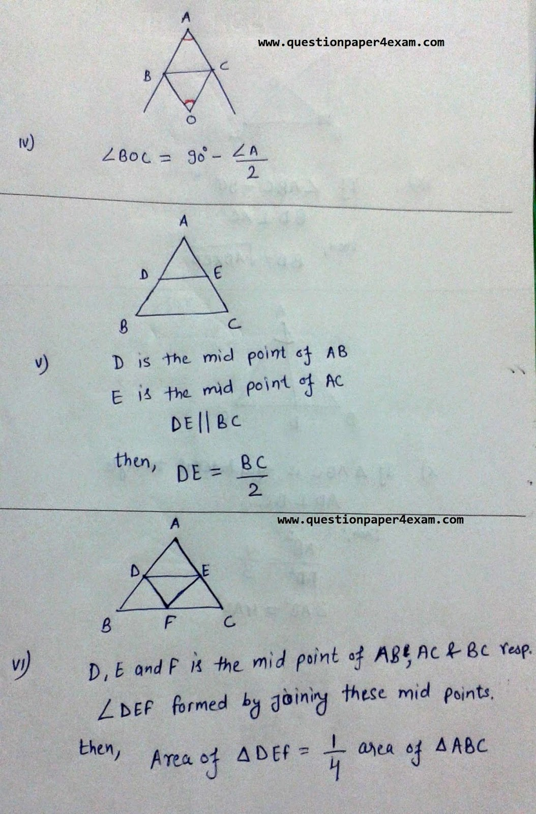 TRIANGLE PROPERTIES HELPFUL IN SSC EXAMS | QUESTION PAPER