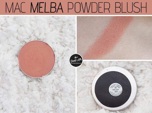 mac melba blush review swatch comparison peaches nc30