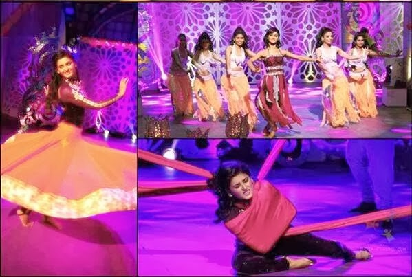 Mohan Shakti in various shades while her dance performance for Womens Day special program on Star Plus