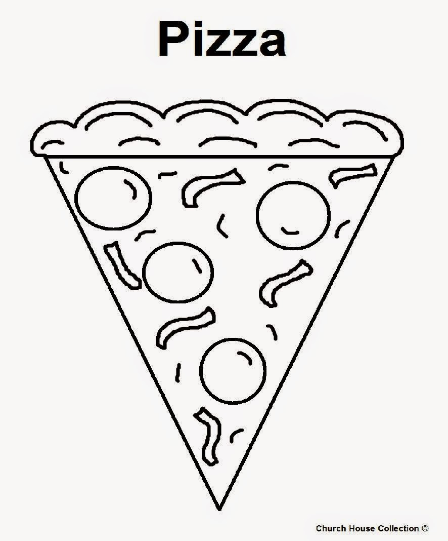 Free Printable Pizza Coloring Pages 28 Images