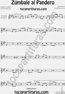 Partitura de Zúmbale al Pandero para Trompeta y Fliscorno by Sheet Music for Trumpet and Flugelhorn Music Scores