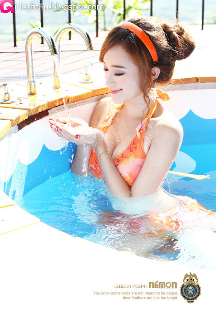 Sun-Xin-Ya-Orange-Bikini-05-very cute asian girl-girlcute4u.blogspot.com