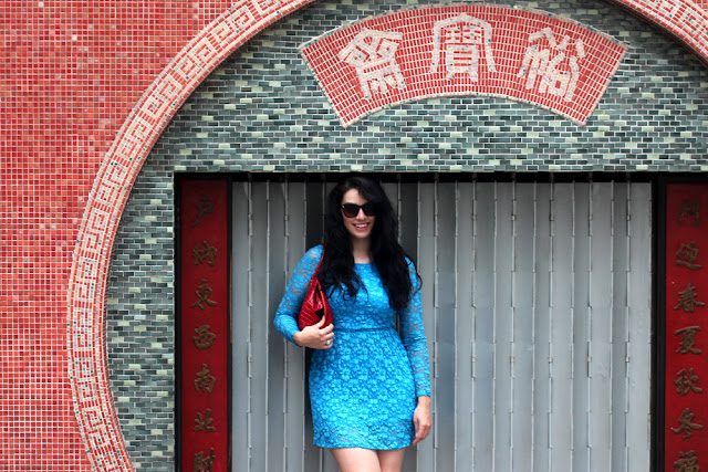 Fashion blogger Emma Louise Layla in Hong Kong
