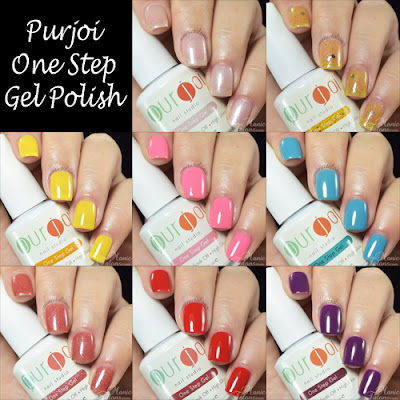 Random Purjoi Nail Studio One Step Swatches