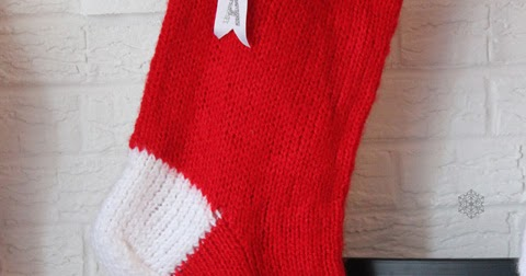 Knitting Pattern For Giant Christmas Stocking : MapleSeeds Home: Pattern: Giant Knitted Christmas Stocking