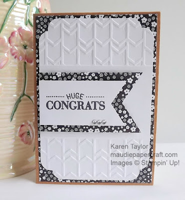 Stampin' Up! Arrows embossing folder card