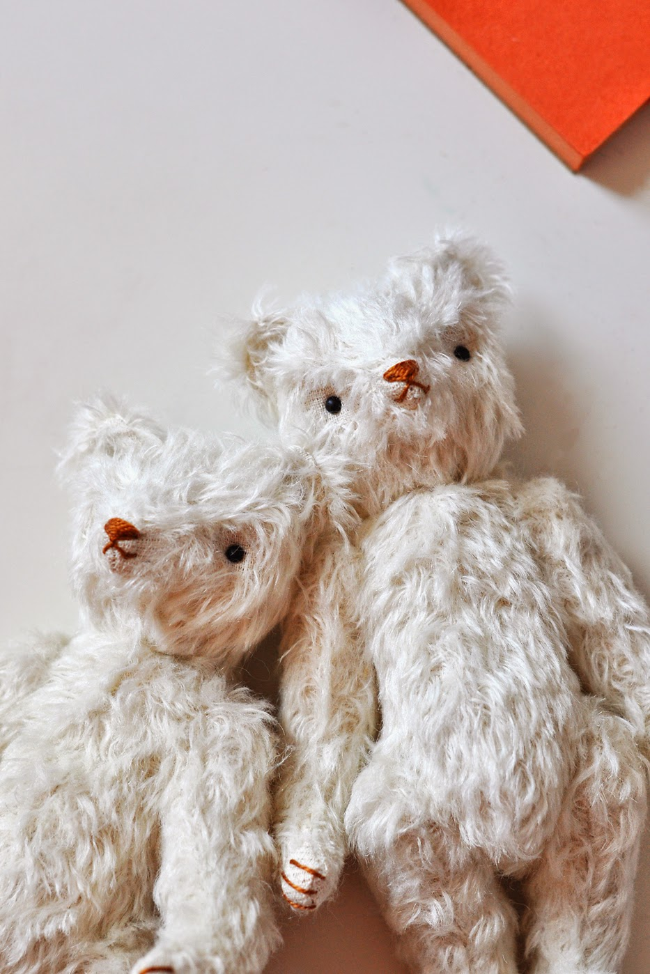 Heritage Mohair Teddy Bears White Easter Jennifer Murphy