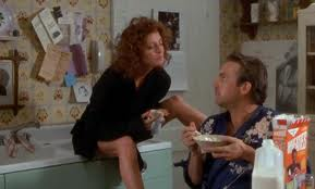 Sarandon & Costner in kitchen