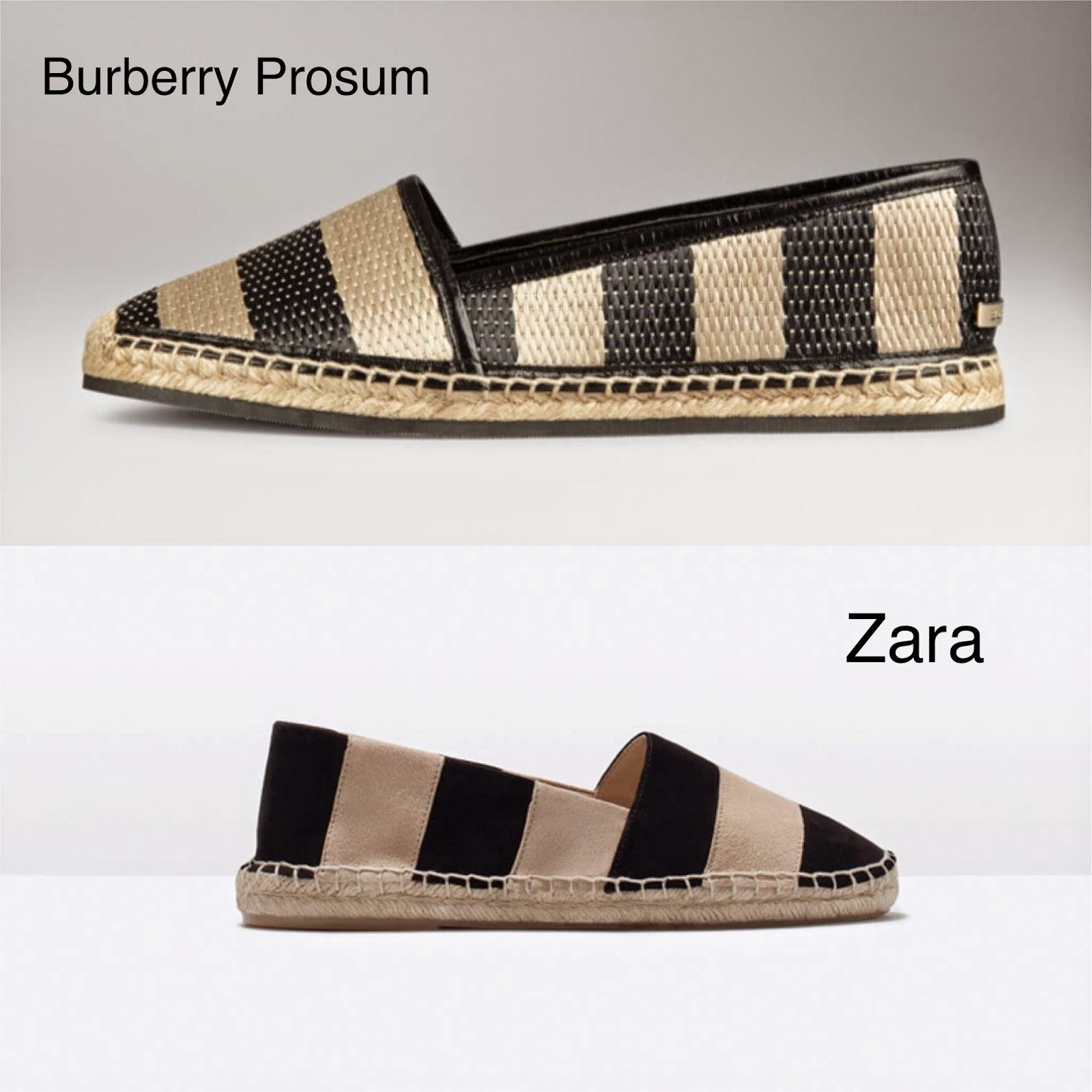 Llega el buen tiempo y las alpargatas a nuestro armario, en Zara tenéis este clon de Burberry Prosum.