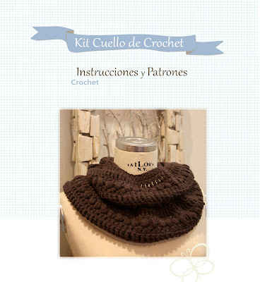 Cuello a crochet. Patrón o kit completo disponible