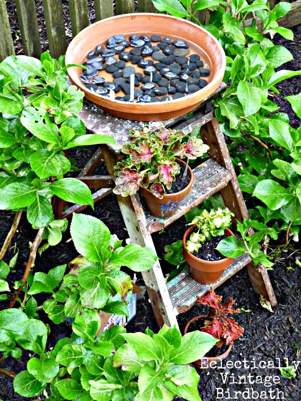 Chipping with Charm: Ladder Love, Eclectically Vintage on Hometalk...http://www.chippingwithcharm.blogspot.com/