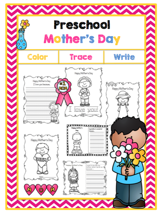preschool mothers day s day writing amp coloring pages preschool printables 565