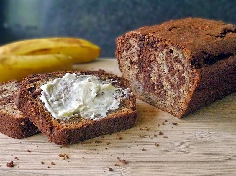 Chocolate Swirl Banana Bread | by Life Tastes Good | #bananabread #chocolate