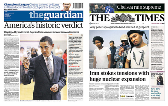 a comparison of two quality newspapers the times and the daily mirror Britain's press can trace its history back more than 300 years, to the time of  william  the first regular english daily newspaper, the daily courant, was  launched with  rothermere launched sunday pictorial (later sunday mirror)   fourth largest regional press publisher, united provincial newspapers, is sold in  two deals:.