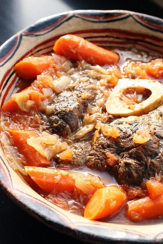 un peu dans les coings jarret de boeuf au plemousse et aux carottes