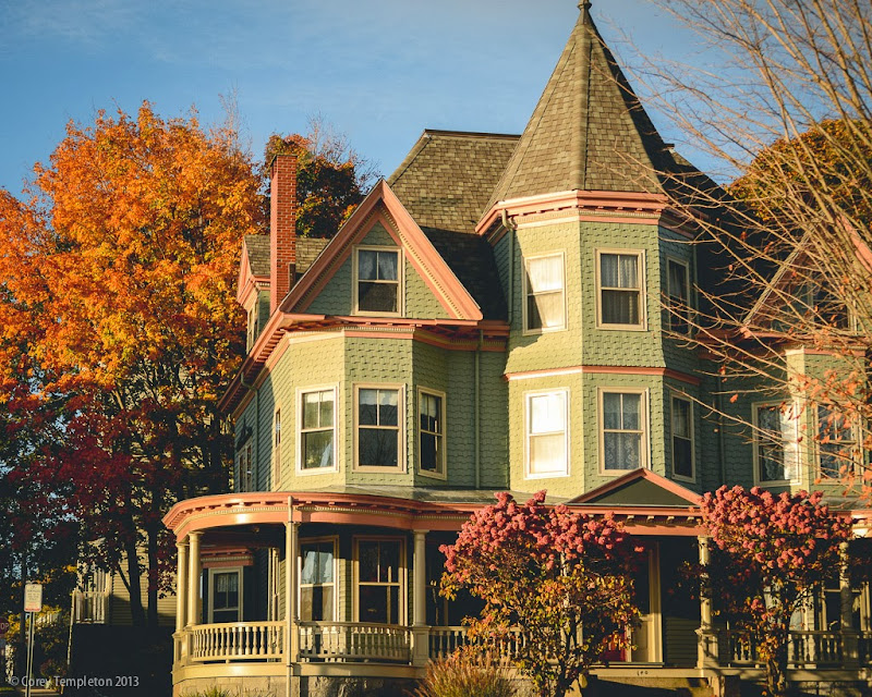 Eastern Promenade Munjoy Hill Autumn House. Portland, Maine. Photo by Corey Templeton.