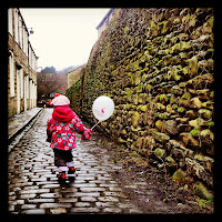 Cobbles and balloon