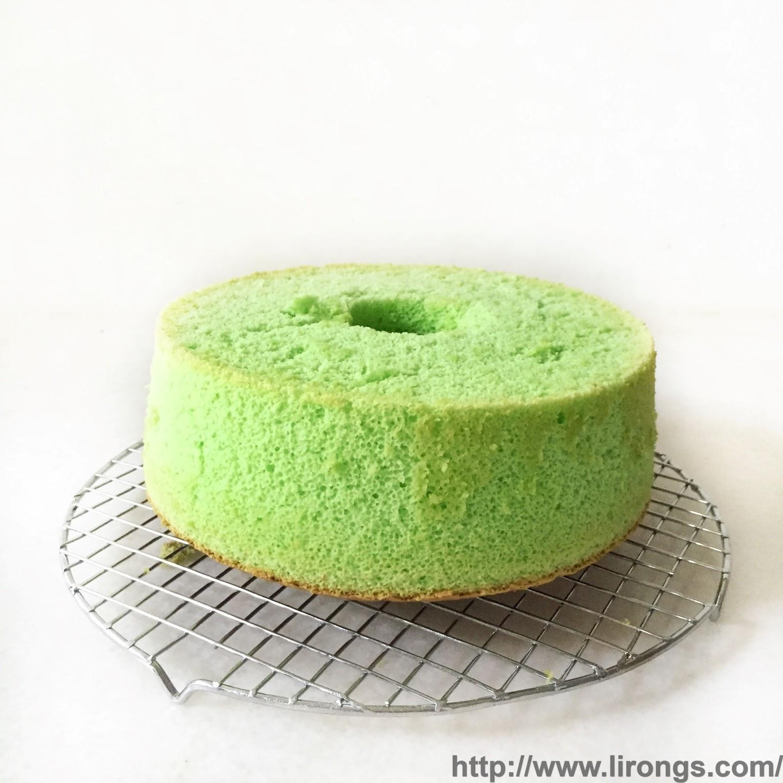 Pandan chiffon cake recipe blog