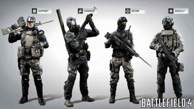 Soldados de Battlefield 4