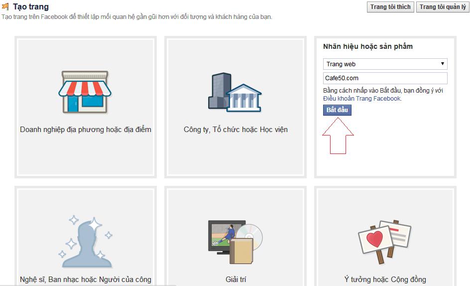 Cách tạo Page Like trên Facebook - bán hàng, trang hâm mộ FB