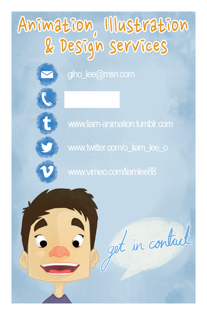 The animation Blog of Liam Lee: Business Cards Ordered!