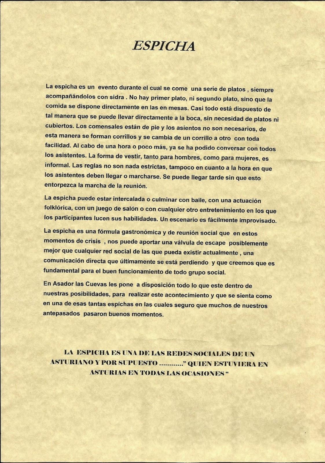 espicha asturiana cuevas
