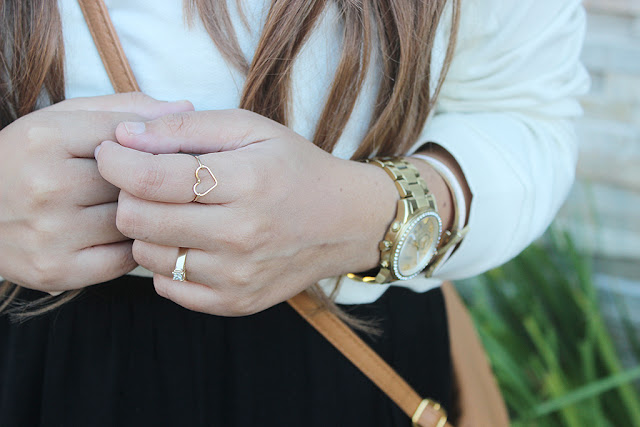 lucky loves, ombre hair, heart ring, gold watch