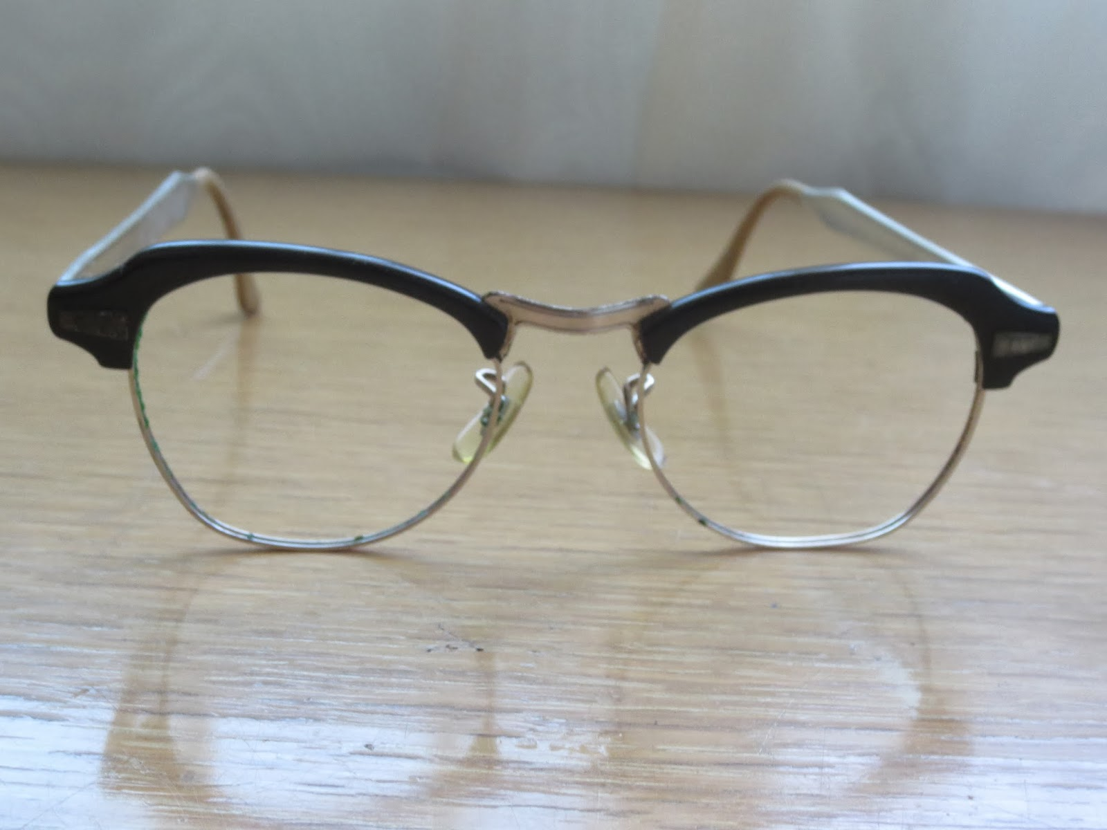 vintage 50s-60s Bausch and Lomb browline glasses Brentwood Lane