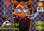 Pou Girl Halloween Emergency
