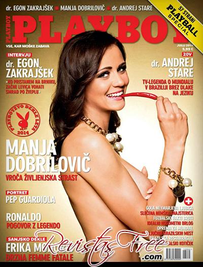 Playboy Slovenia Julho 2014 - Manja Dobrilovic