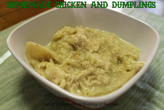Homemade Chicken &amp; Dumplings - a classic dish perfect for the colder nights! #chicken #dumplings #dinner #soup