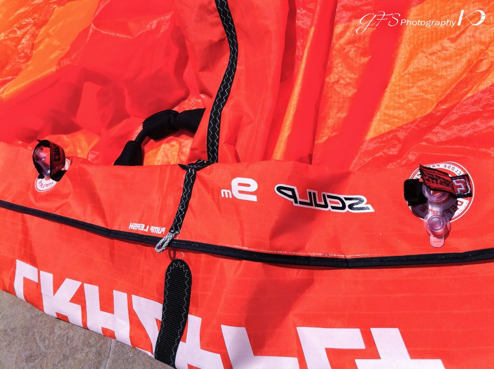 kitesurf kite valves open