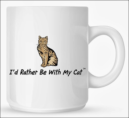 I'd Rather Be With My Cat Mug