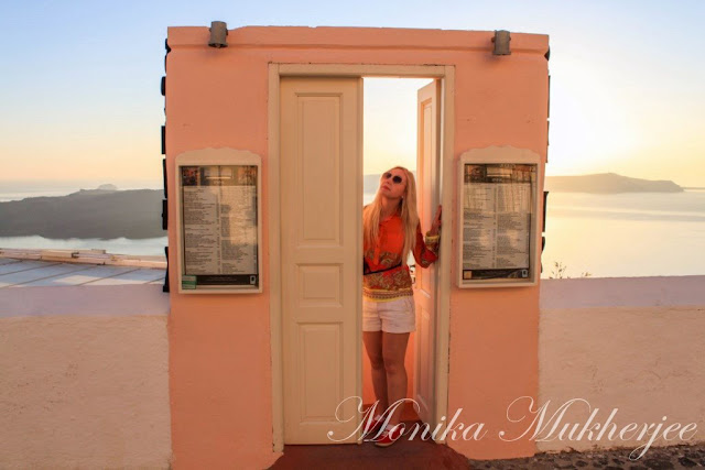 Santorini Doors Greece by Monika Mukherjee