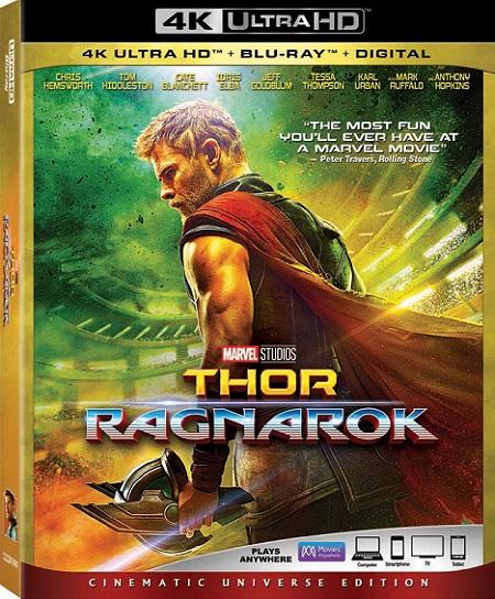 Thor: Ragnarok 4K (2017) 2160p 4K UltraHD HDR BluRay REMUX 55GB mkv Dual Audio Dolby TrueHD ATMOS 7.1 ch