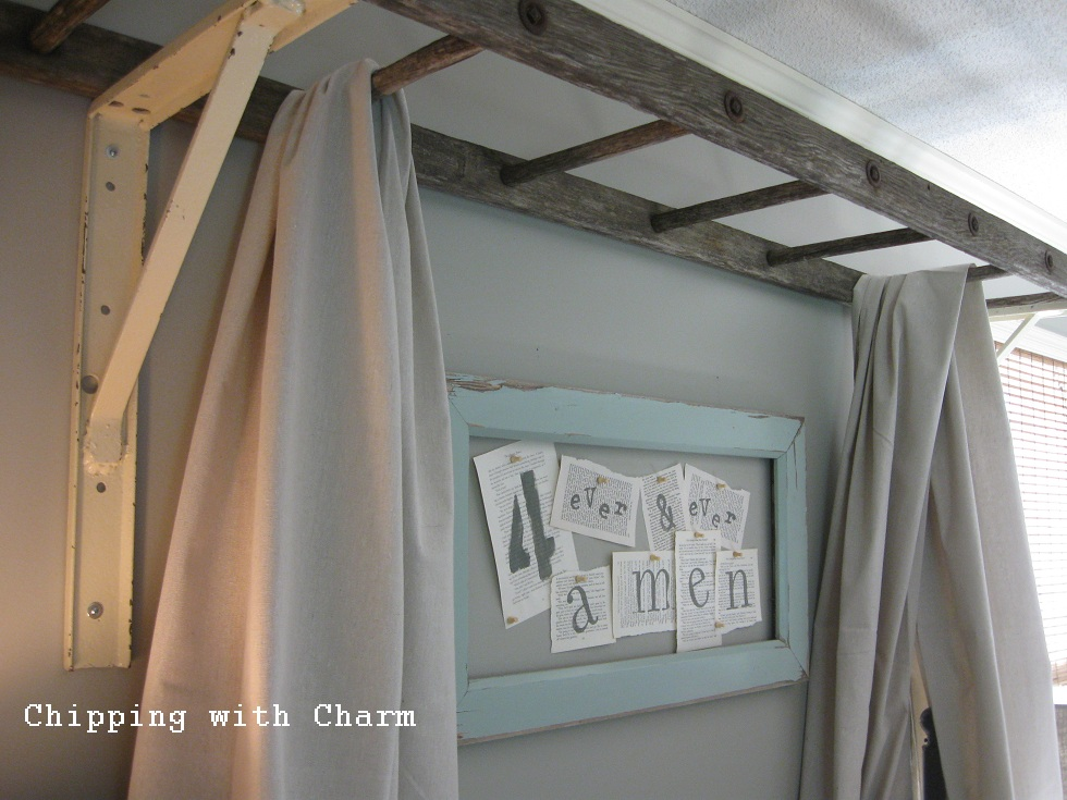 Chipping With Charm A Big Girl Bed Canopy Headboard