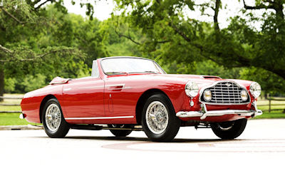 Aston Martin DB2 color rojo cabriolet - Red car