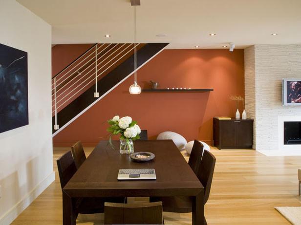 غرف سفرة حديثة باشكال مختلفة  Modern-dining-room-design-in-orange4