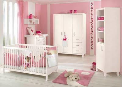 Habitaciones de beb con paredes color rosa dormitorios - Color paredes habitacion bebe ...