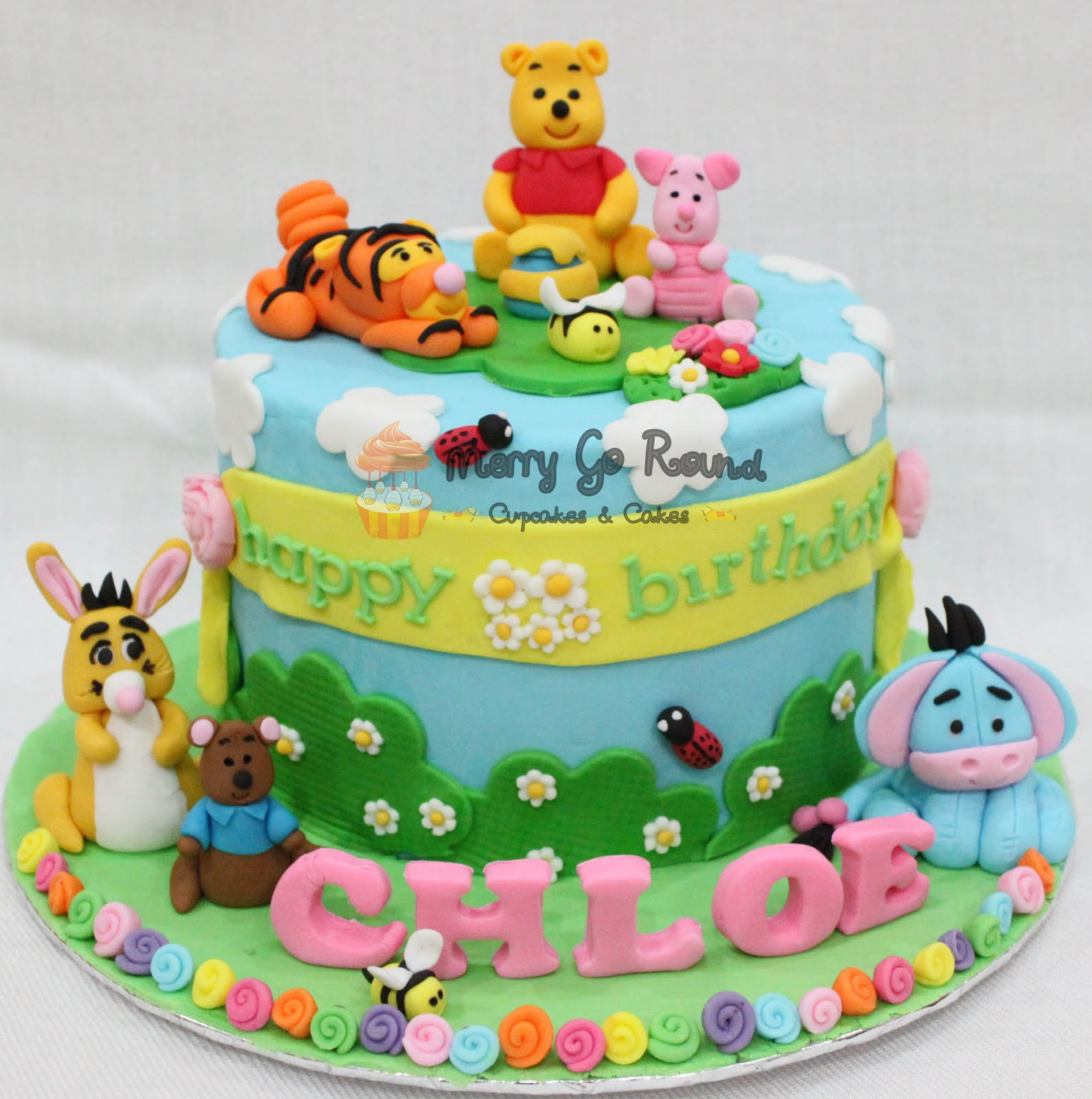 Merry Go Round - Cupcakes & Cakes: Winnie The Pooh Birthday Cakes
