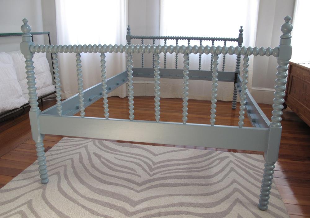 Blue Lamb Furnishings Blue Modern Vintage Spool Bed Sold