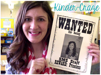 WANTED sign... great idea for Teacher Appreciation Day!