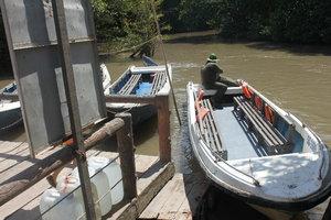 A canoe in Rừng Sác guerilla base